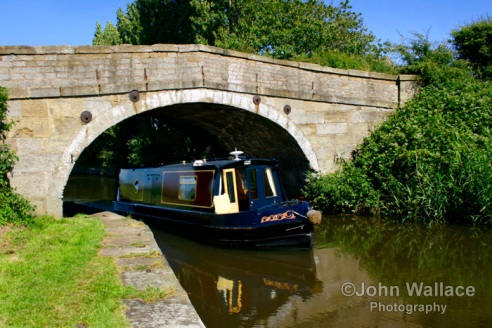 Longboat on the canal UK