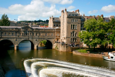 The river Avon in Bath UK