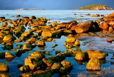 Sun on the rocks