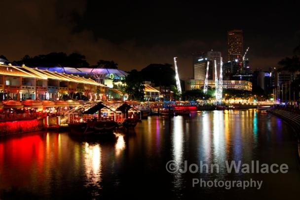 Enjoying the Singapore night life