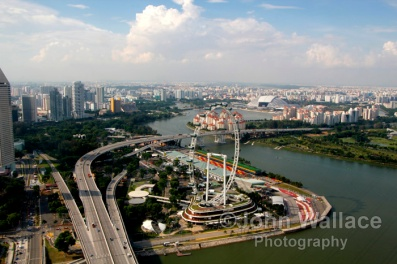 Aerial Singapore Cityscape