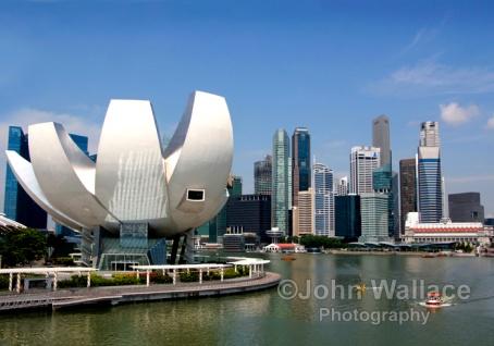 Cityscape across the Singapore harbour