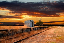 Sunset at the Coonawarra Rail Station