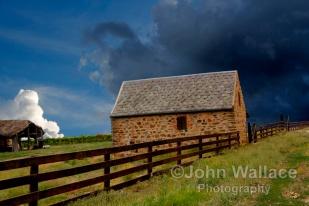 Stormy Rural Landscape
