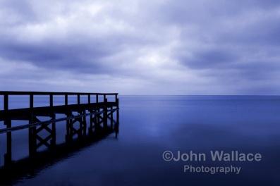 Early morning light across the calm bay