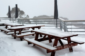 Snowfall at Mount Hotham Victoria