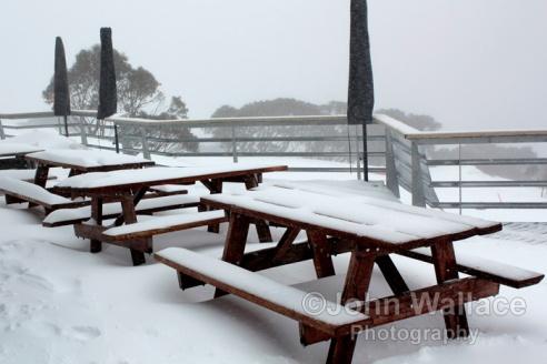 Snowfall at Mount Hotham Victoria Australia