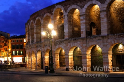 Night at the Arena in Verona
