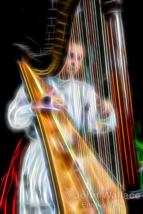 Harp Player Abstract