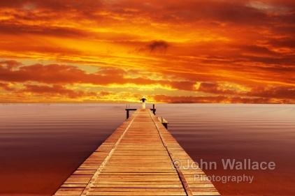 Solitude Sunset on the Lake