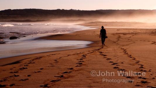 Sunset Walk on the beach in Australia