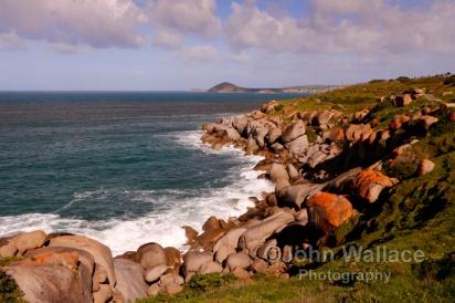 Granite rock formations on Granite Island, Victor Harbor, South Australia