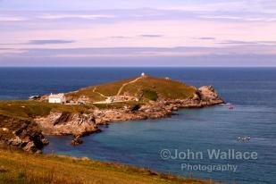 Towan Head, the headland at Newquay Bay in Cornwall England