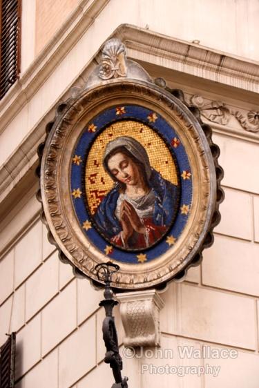A Madonnelle Religious Plaque (Rome)