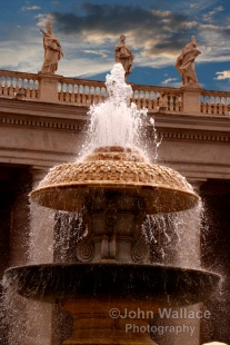 Vatican City Fountain