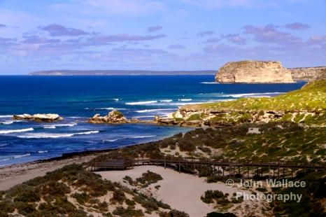 The beauty of the unspoiled coastline at Sea Bay on Kangaroo Island, South Australia