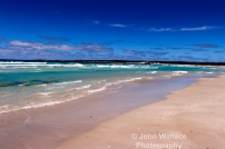 A quiet empty beach scene on Kangaroo Island, South Australia