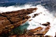 Fagged rocks on the coast on Kangaroo Island, South Australia