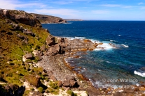 The jagged rocky coastline of Weirs Cove, the coast of Kangaroo Island, South Australia