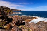 The jagged rocky coastline of Weirs Cove, the coast of Kangaroo Island, South Australia