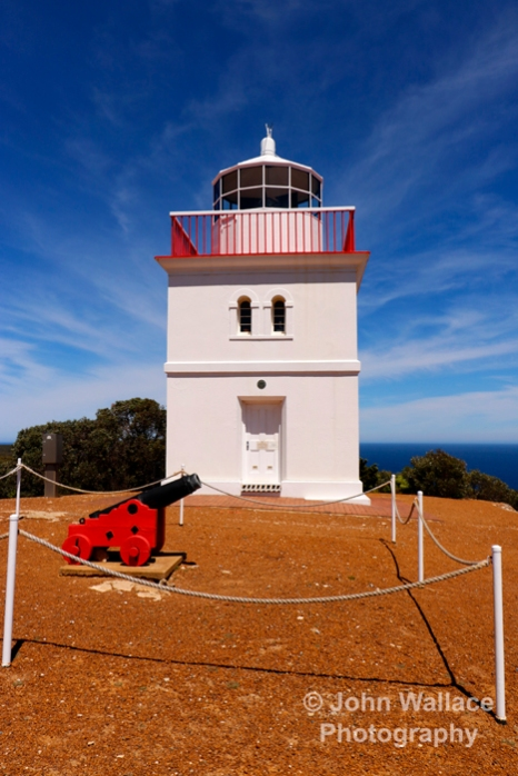 Cape Borda Lighthouse on Kangaroo Island was built in 1858 and is the only square stone lighthouse in South Australia.