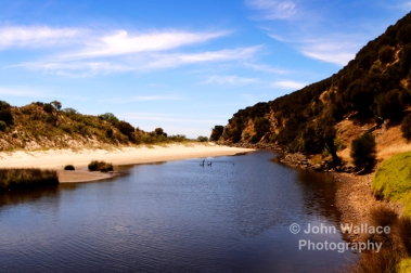 The river inlet to the beautiful Western River Cove on Kangaroo Isnad, South Australia