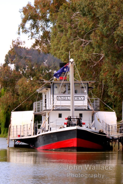 Historic paddle steamer on the River Murray