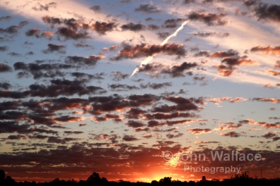 Sunset in the riverland of South Australia